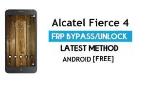 Alcatel Fierce 4 FRP Bypass – Unlock Google Gmail Lock (Android 6.0) Without PC Latest