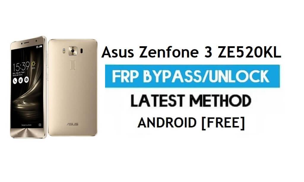 Asus Zenfone 3 ZE520KL FRP Bypass – Unlock Gmail Lock Android 7.1