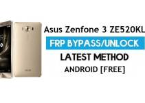 Asus Zenfone 3 ZE520KL FRP Bypass Android 7.1 – Unlock Google Gmail Lock [Without PC]