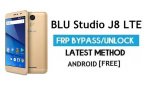 BLU Studio J8 LTE FRP Bypass Without PC – Unlock Gmail Android 7.0