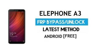Elephone A3 FRP Bypass Without PC – Unlock Gmail Lock Android 8.1
