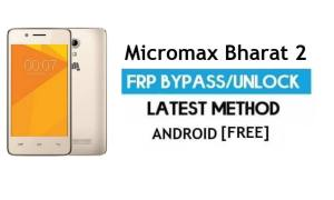 Micromax Bharat 2 Q402 FRP Bypass – Unlock Google Verification (Android 6.0) – Without PC