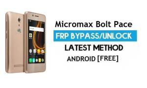 Micromax Bolt Pace Q402 FRP Bypass – Unlock Google Verification (Android 6.0) – Without PC