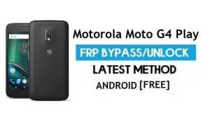 Motorola Moto G4 Play FRP Bypass – Unlock Google Gmail lock Android 7