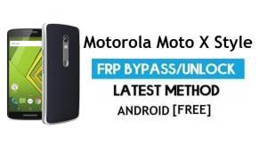 Motorola Moto X Style FRP Bypass – Unlock Google Gmail lock Android 7
