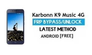 Karbonn K9 Music 4G FRP Bypass Unlock Gmail Verification Android 7.0
