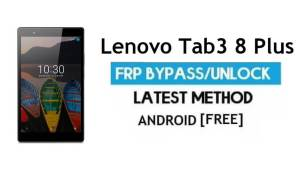 Lenovo Tab3 8 Plus FRP Unlock/ Google Account Bypass | Android 6.0 (Without PC)