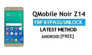 QMobile Noir Z14 FRP Unlock Google Account Bypass Android 6.0 No PC