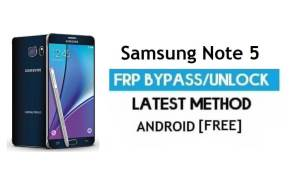 Samsung Note 5 SM-N920 FRP Bypass Unlock Google Android 7.0 No PC