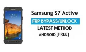 Samsung S7 Active SM-G891A FRP Bypass – Unlock Google Android 7.0