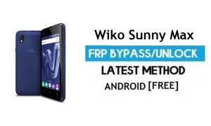 Wiko Sunny Max FRP Unlock Google Account Bypass   Android 6.0 No PC