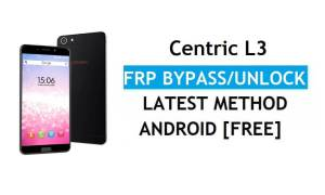 Centric L3 FRP Bypass Unlock Google Gmail lock Android 7.1 Without PC