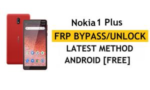 Reset FRP Nokia 1 Plus - Bypass Google lock Android 10 Without PC/APK