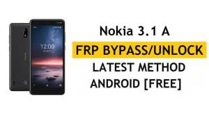 Reset FRP Nokia 3.1 A – Bypass Google gmail Android 9 Without PC/APK
