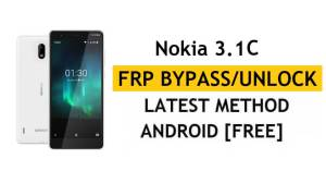 Reset FRP Nokia 3.1 C - Bypass Google Lock Android 9 Without PC/APK