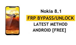 Reset FRP Nokia 8.1 Bypass Google gmail Android 10 Without PC/APK