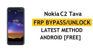 Reset FRP Nokia C2 Tava Bypass Google Gmail Android 10 Without APK