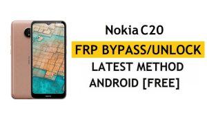 Nokia C20 FRP Bypass [Android 11 Go] Unlock Google Account Lock Free