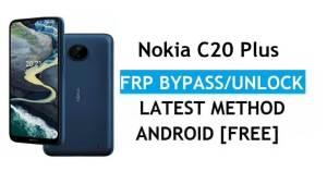 Nokia C20 Plus Android 11 FRP Bypass Unlock Google Gmail Lock Latest
