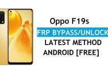 Oppo F19s Android 11 FRP Bypass Unlock Google Account Lock Verification Latest