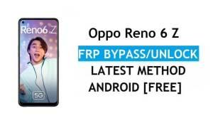 Oppo Reno 6 Z Android 11 FRP Bypass Unlock Google Gmail Lock Latest