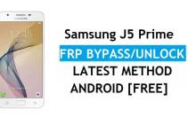 Delete Samsung J5 Prime SM-G570 FRP Google Verification [Android 8.0] Latest Patch