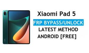 Xiaomi Pad 5 MIUI 12.5 FRP Bypass/Google Account Unlock Latest Patch