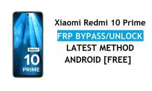 Xiaomi Redmi 10 Prime MIUI 12.5 FRP Bypass/google account unlock free