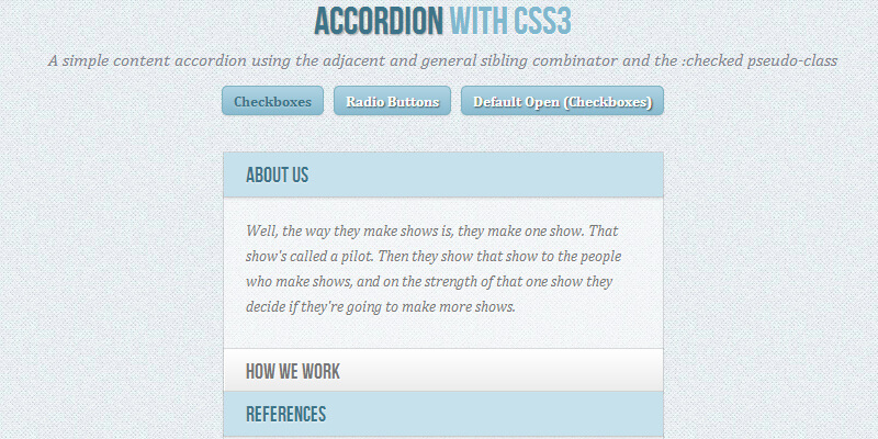 27 Most Useful CSS Accordion - Free Web Tutorials