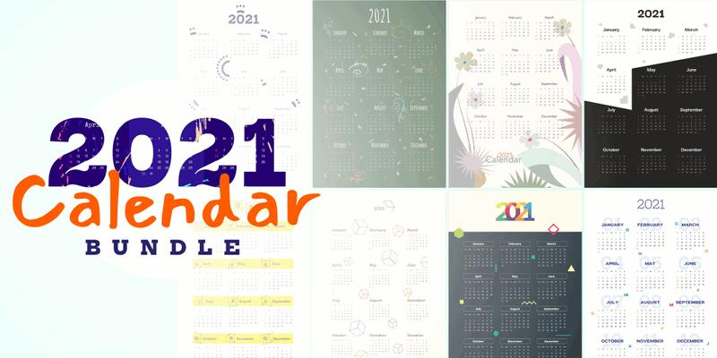 Download Calendar Templates for 2021 - Ai & EPS Vector Files ...