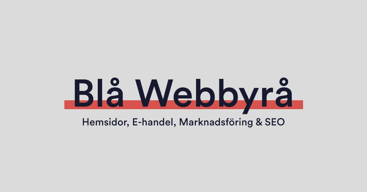 Blå Webbyrå