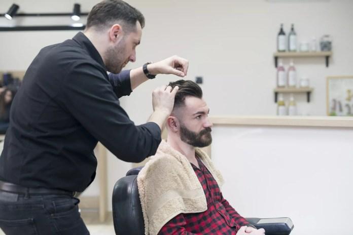 Man at the barbershop