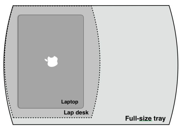 Lap desk dimensions