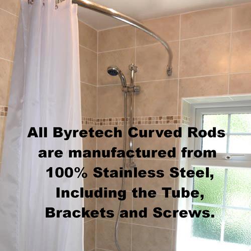 crescent rod shower rail 2m byretech ltd