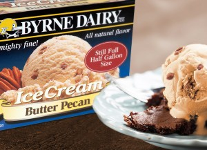 3 Gallon Tub of Ice Cream Flavors from Byrne Dairy