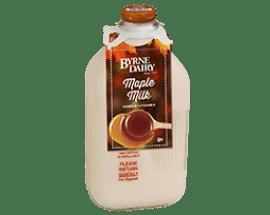 Maple Milk in Glass Bottles from Byrne Dairy