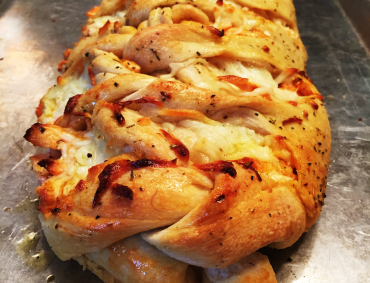 Chicken Wing Pizza Braid