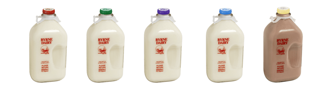 Milk in Glass Bottles Available Flavors from Byrne Dairy 2 - Milk in Glass Bottles