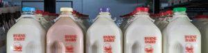 Milk in Glass Bottles Header Image from Byrne Dairy