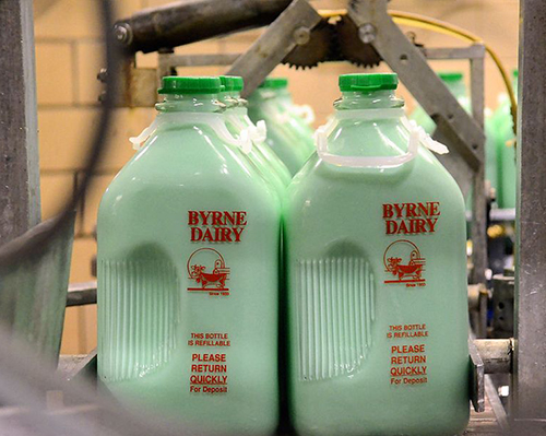 mint milk in ny for st patricks day by byrne dairy - Mint Milk
