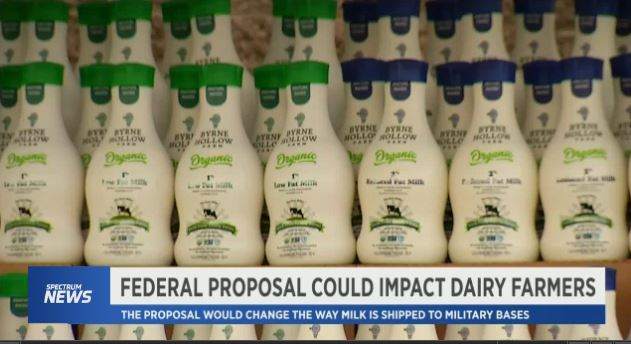 A new proposal addresses the way milk is supplied to military bases.