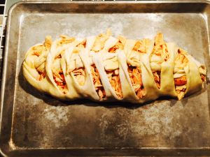 strips of dough 3 300x225 - Chicken Wing Pizza Braid