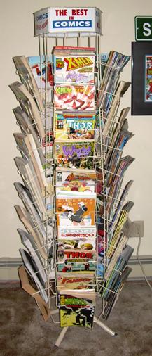 byrne robotics partial comic book spinner rack on ebay short notice