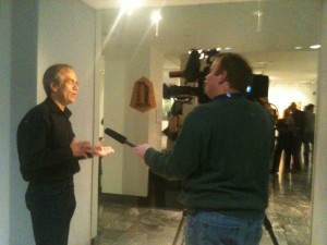 Byron being interviewed by WSMV regarding Missing Nature Exhibit