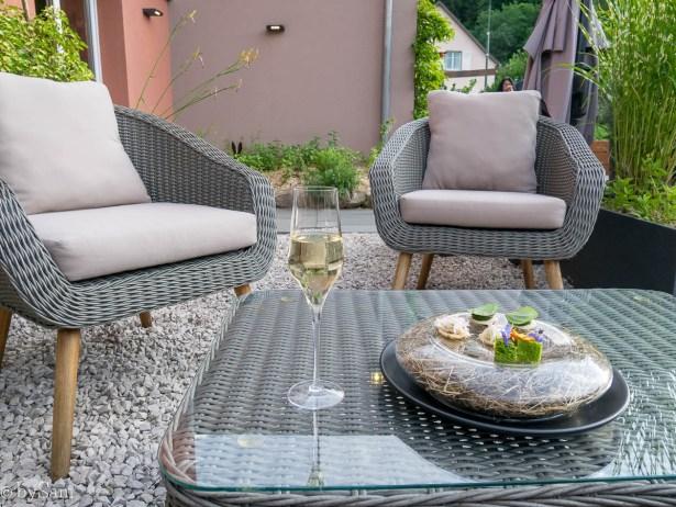 Restaurant l'Alchemille Kaysersberg Alsace terrace