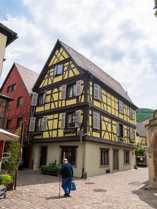 Dorp in Alsace Kaysersberg