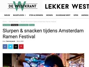 De Westkrant Amsterdam Ramen Festival