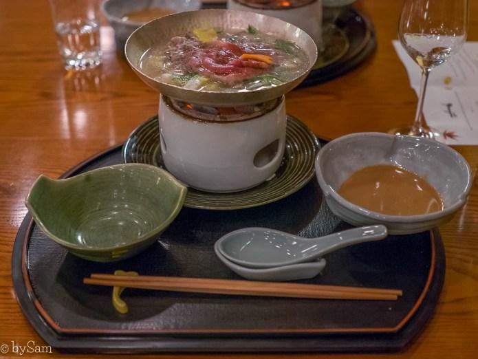 Yamazato Japans restaurant Amsterdam Okura Hotel shabu shabu