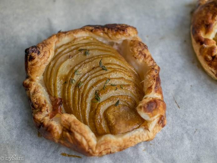 Recept peren taartjes gebakjes galette flap