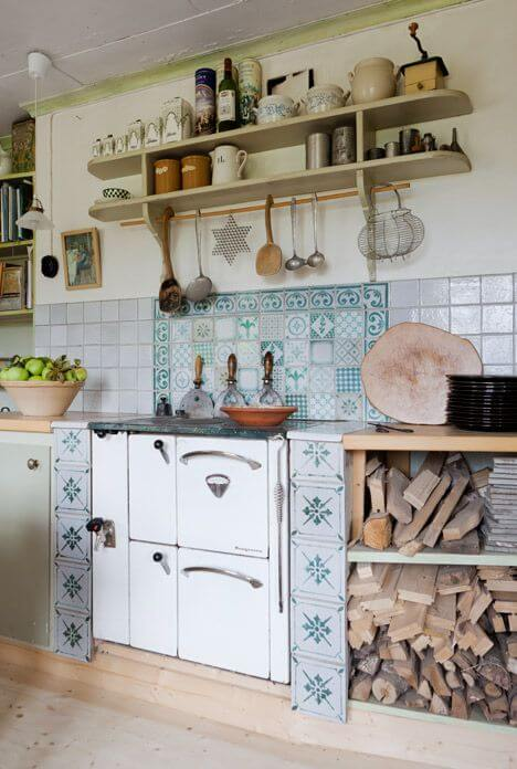vintage scandi kitchen